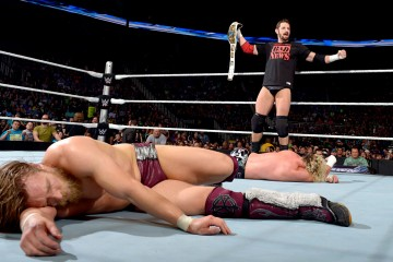 Photo of Bad News Barrett, Daniel Bryan and Dolph Ziggler.