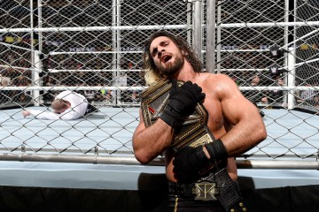 Photo of Seth Rollins with his WWE Title