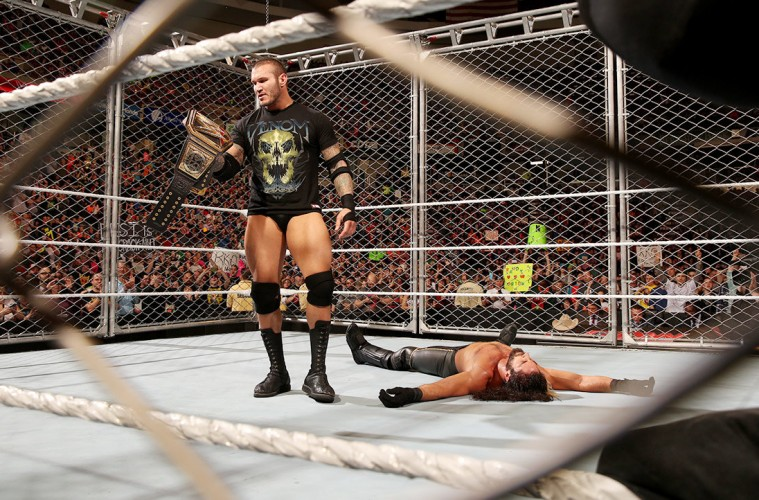 Photo of Randy Orton with the WWE Title