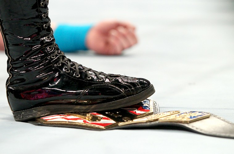Photo of Kevin Owens' boot on the US Title