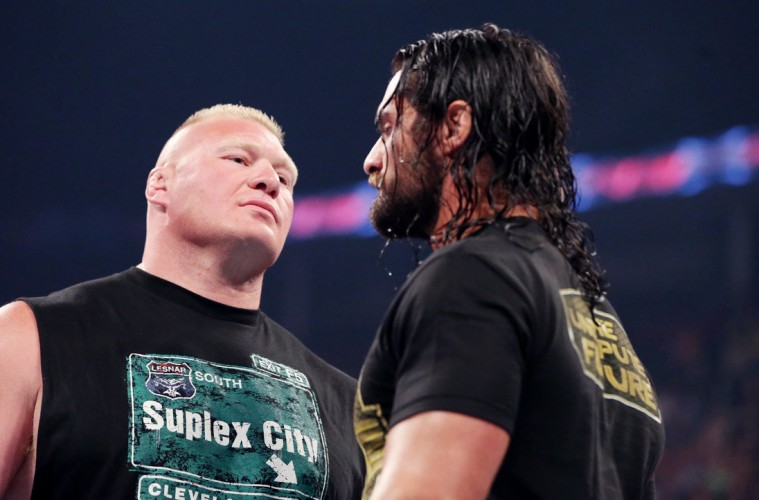 Photo of Brock Lesnar and Seth Rollins