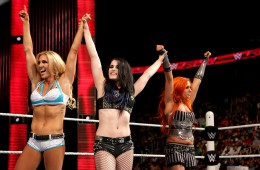 Photo of Paige, Charlotte and Becky Lynch.