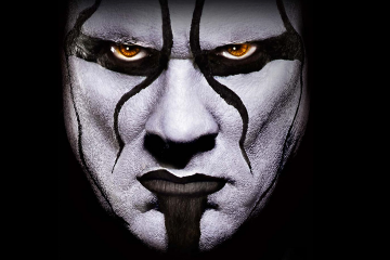 A close-up picture of Sting's face