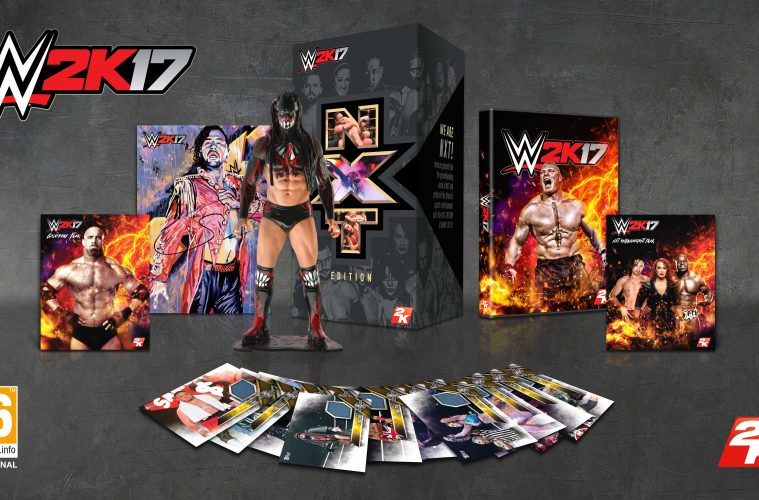 Shows contents of the NXT Edition of WWE 2K17.